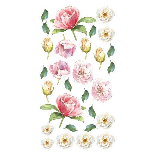 Naklejka ścienna akwarelowe kwiaty