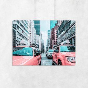Plakat ulica Nowego Jorku