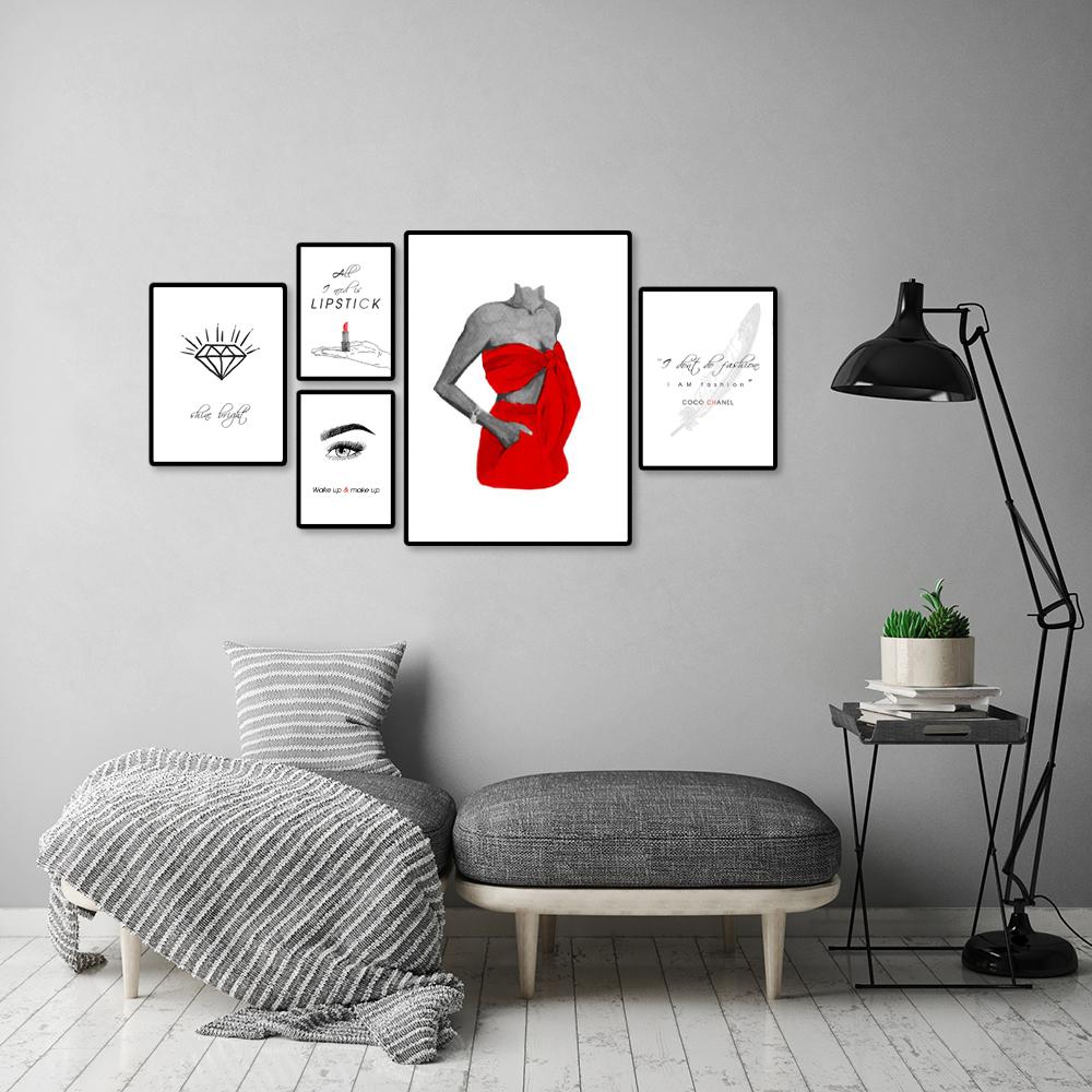 kobiecy zestaw plakatów na ściane