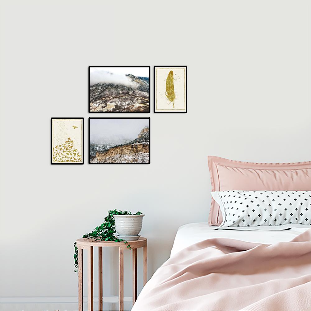 zestaw romantycznych plakatów do sypialni