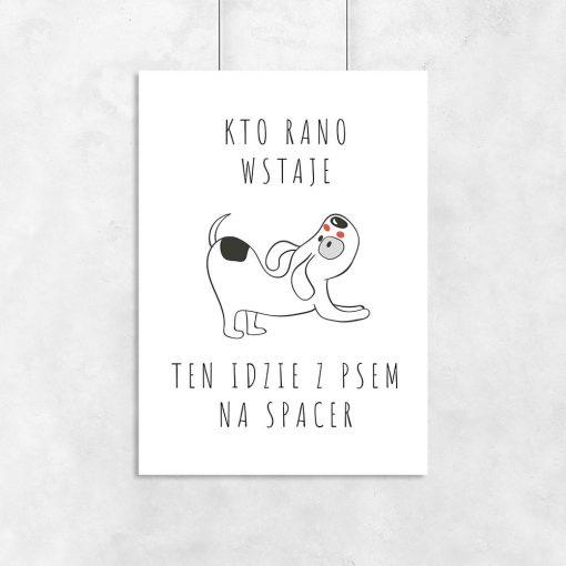 Plakat motyw psa i napis