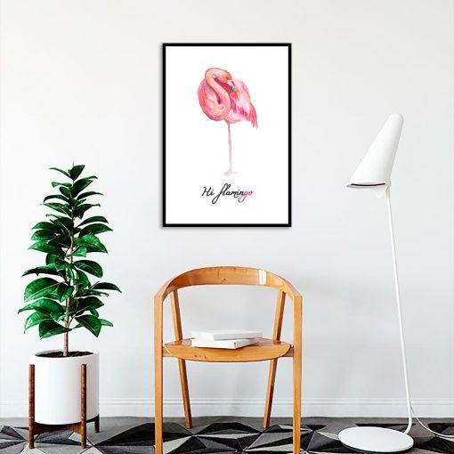 Plakat motyw flaminga
