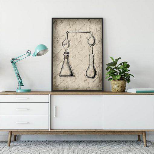 Plakat kolby chemiczne
