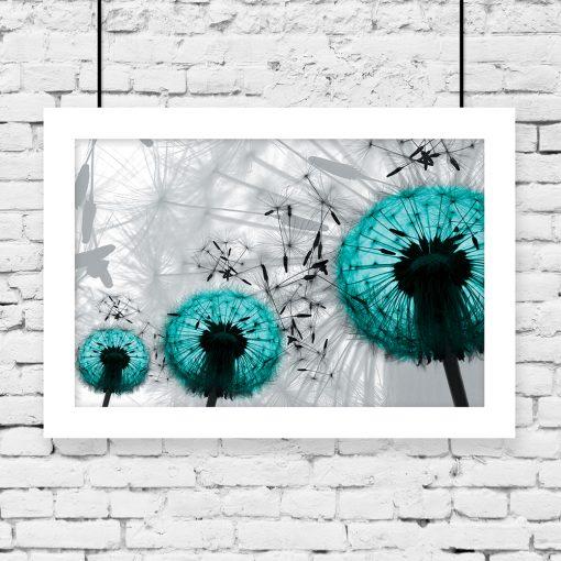 plakat turkusowe dmuchawce