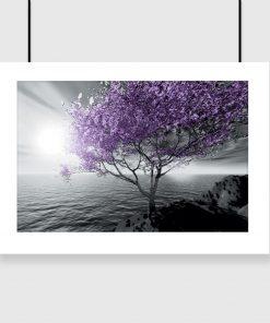 plakat fioletowe drzewo