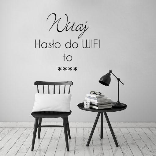 Naklejka jednokolorowa z napisem o wifi