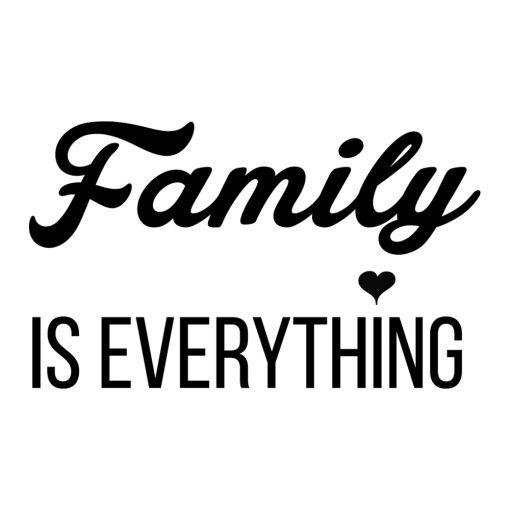 Naklejka na ścianę z hasłem o rodzinie