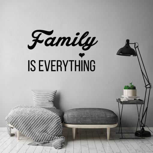 Naklejka jednokolorowa family is everything