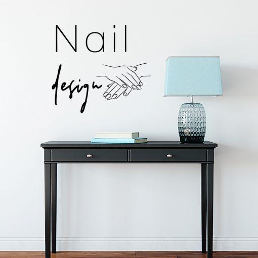 Naklejka ścienna nail design