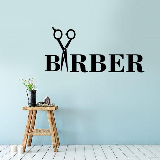 Naklejka ścienna barber