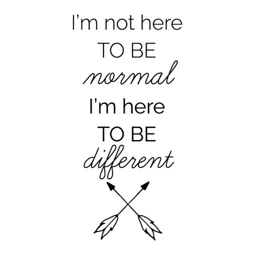 Naklejka na ścianę I'm here to be different