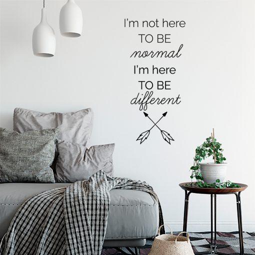 Naklejka ścienna Im not here to be normal