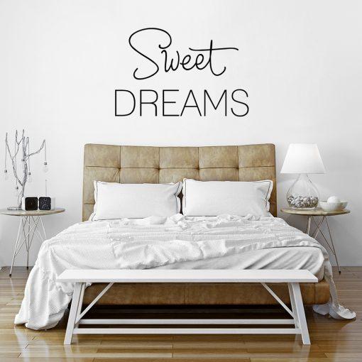 Ornament z napisem sweet dreams