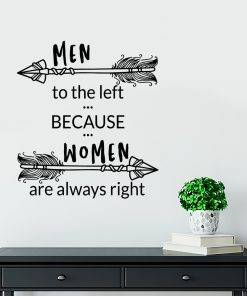 Ornament ścienny men to the left because women are always right