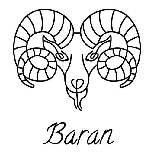 Naklejka ścienna zodiak barana