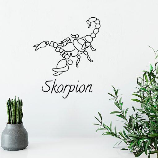 Naklejka jednokolorowa skorpion