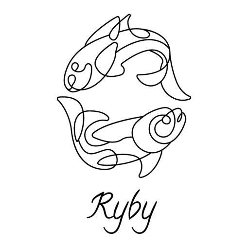 Ornament ścienny ze znakiem zodiaku ryb