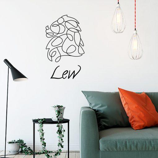 Ornament jednokolorowy zodiak lwa