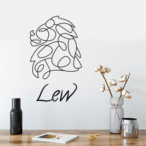 Ornament ścienny lew