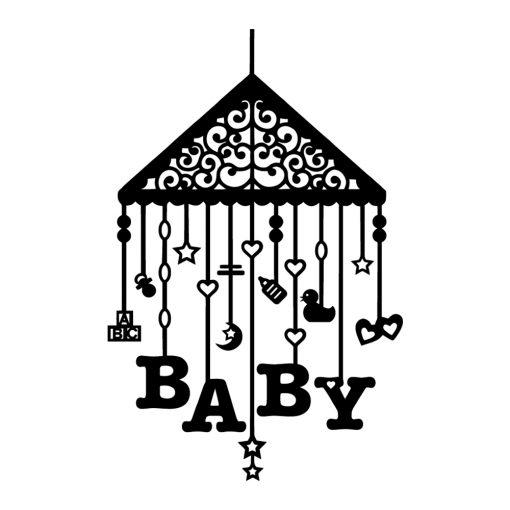 Naklejka jednokolorowa baby