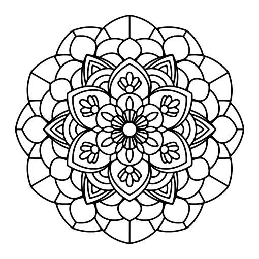 Naklejka jednokolorowa mandala