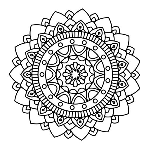 Ornament ścienny z mandalą