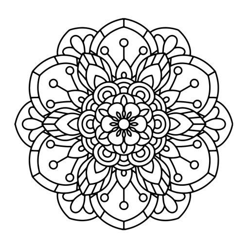 Naklejka jednokolorowa z mandalą