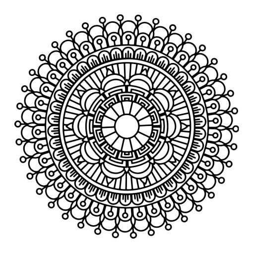 Ornament ścienny mandala