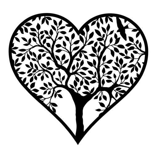 Naklejka ścienna drzewo w sercu