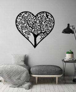 Naklejka jednokolorowa z sercem