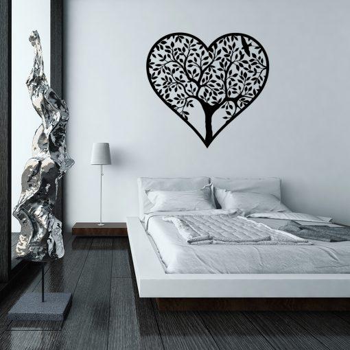 Jednokolorowy ornament ścienny serce