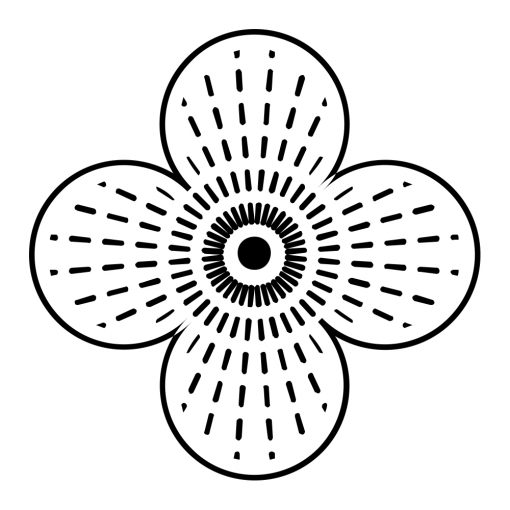 Ornament ścienny z motywem kwiatu