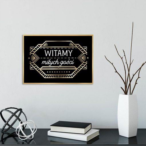 plakat witamy miłych gości