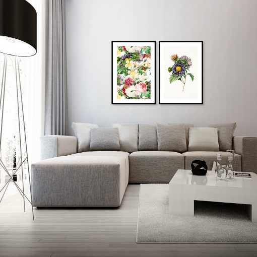 Podwójny plakat kwiaty
