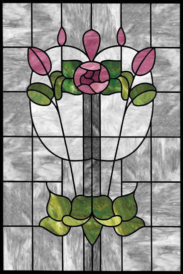 Witraż samoprzylepny pąki kwiatów