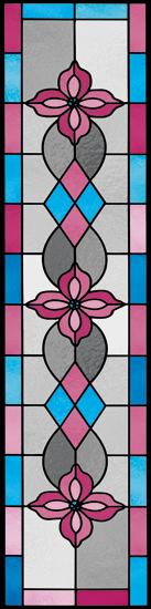 Różowo-niebieska folia witrażowa