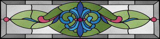 Naklejka witrażowa z motywem ornamentu