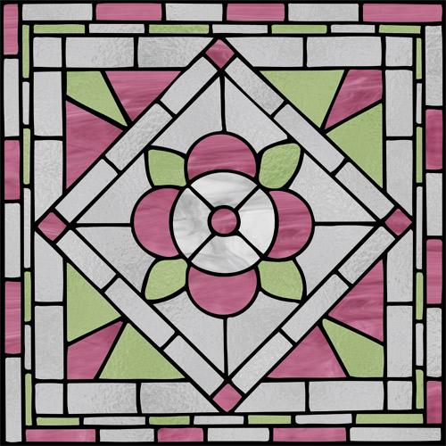 Witraż samoprzylepny różowo-szary