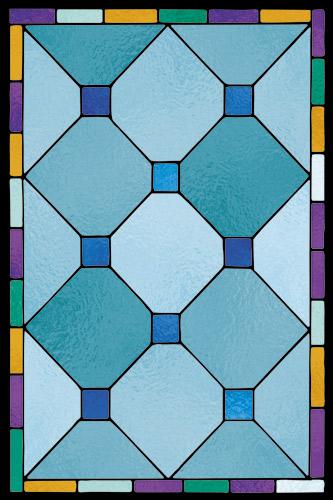 Naklejka witrażowa geometryczna