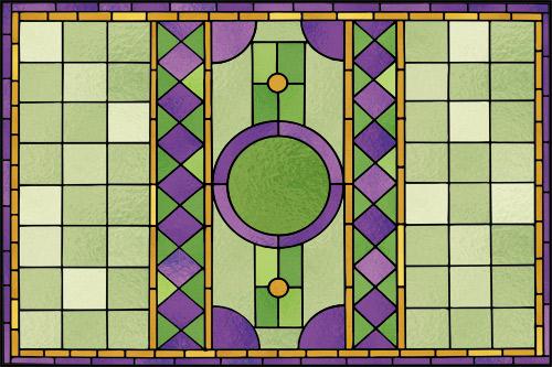 Folia witrażowa w kolorze zielonym