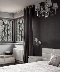 witraże samoprzylepne z bambusami do sypialni