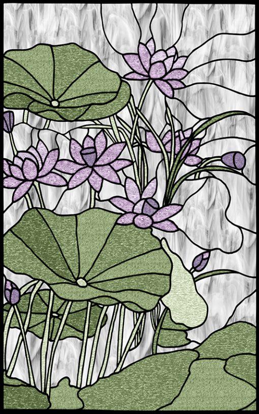 Naklejka witrażowa kwiaty