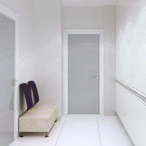 folie matujące szyby w drzwiach