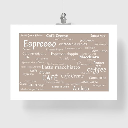 beżowy plakat kawa