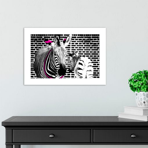 plakat z motywem zebr