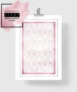 plakat z różowymi wzorami