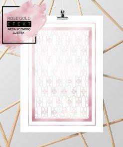 plakat ze złoto różowymi elementami