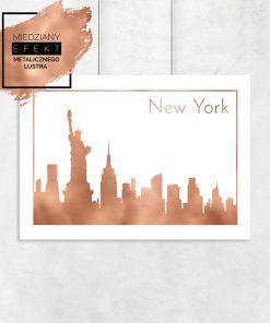 plakat z widokiem na miasto