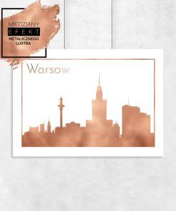 metaliczne miasto warszawa na plakacie