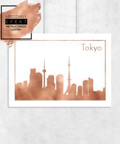 miedziane miasto tokyo na plakacie